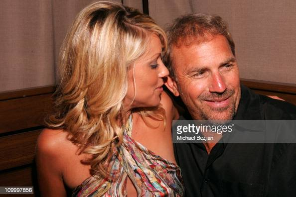 Christine Baumgartner and Kevin Costner during Bikini Destinations' Summer Party Fashion Show at Cabana Room in Hollywood California United States