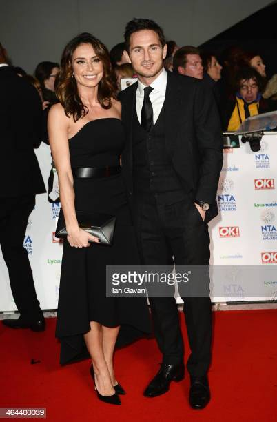 Christine Bleakley and Frank Lampard attend the National Television Awards at 02 Arena on January 22 2014 in London England