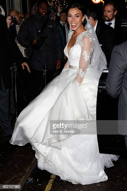 Christine Bleakley arrives at The Arts Club Dover Street for her wedding reception on December 20 2015 in London England