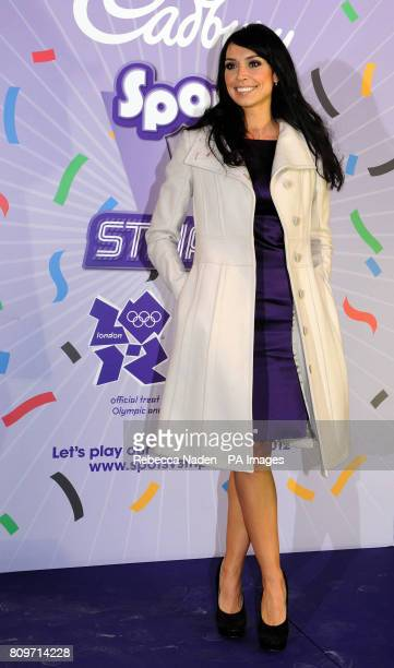 Christine Bleakley at Westfield in Stratford where she pulled the string on a giant Cadbury's party popper to launch an Olympics and Paralympic...