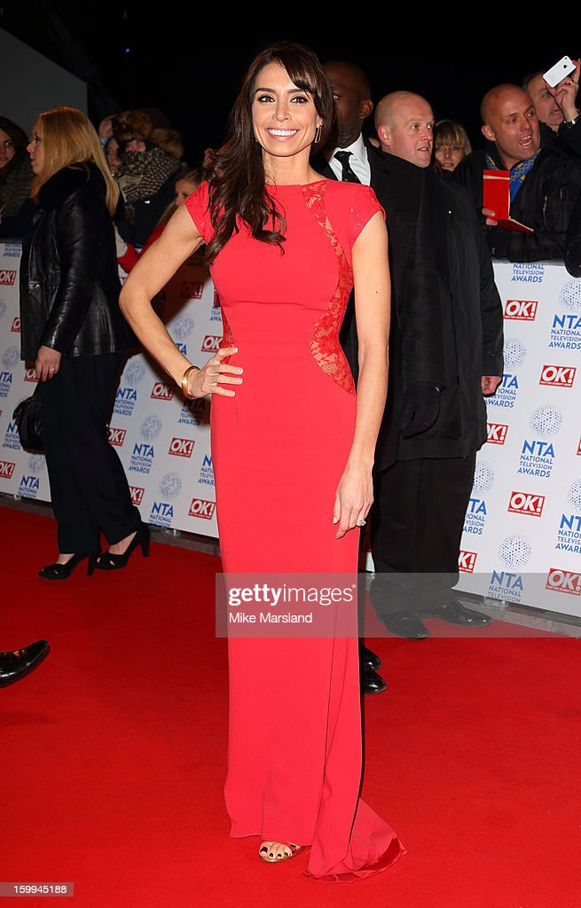 Christine Bleakley attends the National Television Awards at 02 Arena on January 23, 2013 in London, England.
