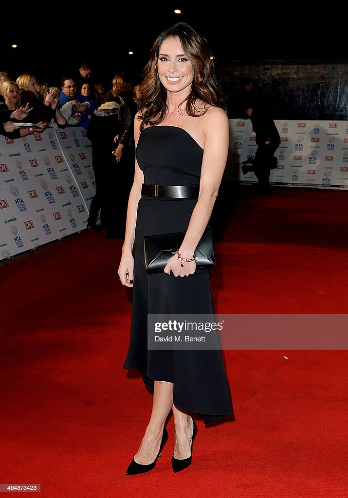 <a gi-track='captionPersonalityLinkClicked' href=/galleries/search?phrase=Christine+Bleakley&family=editorial&specificpeople=5831033 ng-click='$event.stopPropagation()'>Christine Bleakley</a> attends the National Television Awards at the 02 Arena on January 22, 2014 in London, England.