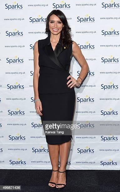 Christine Bleakley attends the Sparks Winter Ball at Old Billingsgate Market on December 3 2015 in London England