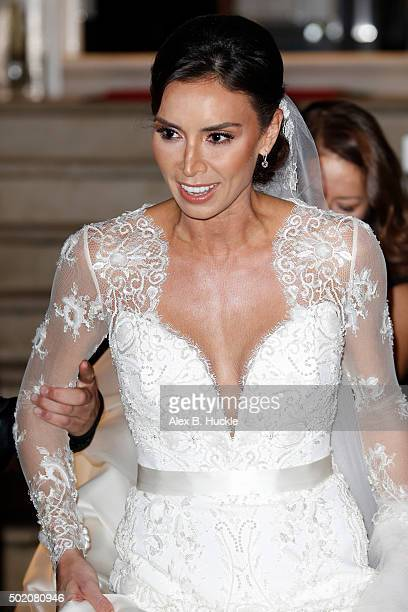 Christine Bleakley leaves home on the way to her wedding to Frank Lampard on December 20 2015 in London England