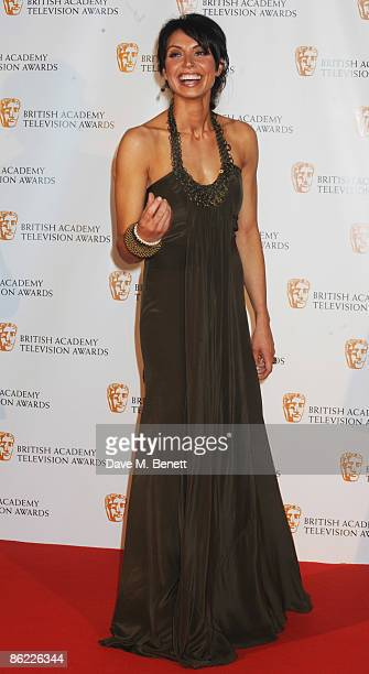 Christine Bleakley poses in the press room during the BAFTA Television Awards 2009 at the Royal Festival Hall on April 26 2009 in London England