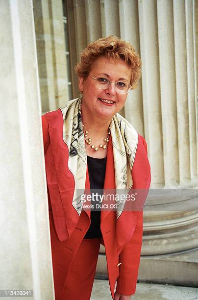 Christine Boutin Against Pacs In The National Assembly On October 6Th 1998 In ParisFrance