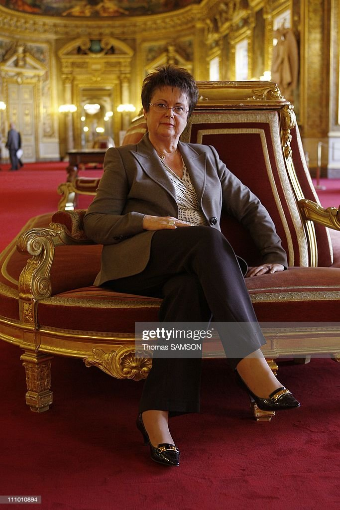 <a gi-track='captionPersonalityLinkClicked' href=/galleries/search?phrase=Christine+Boutin&family=editorial&specificpeople=4055950 ng-click='$event.stopPropagation()'>Christine Boutin</a>, Minister of Housing and Urban Affairs, at the Senate to present her law project on housing in Paris, France on Octorber 14th, 2008.