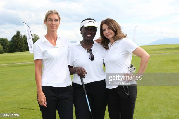 Christine Burmeister Dr Auma Obama and Juliana Groeger during the 2nd I'm Living Charity Golf Cup at Golfclub Beuerberg on June 16 2017 in Penzberg...