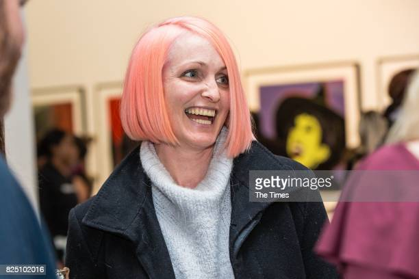 Christine Burns during the opening of the Andy Warhol exhibition at the Wits Art Museum on July 26 2017 in Johannesburg South Africa The exhibition...