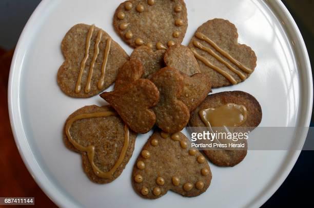 Christine Burns Rudalevige's maple walnut heart cookies Tuesday January 24 2017