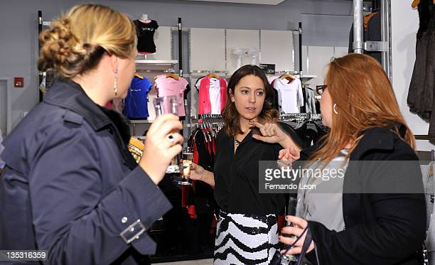 Christine Cameron attends Bebe and PEOPLE StyleWatch Give and Get Glam Event at Bebe Store Soho on December 8 2011 in New York City