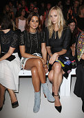 Christine Centenera and Gemma Ward sit front row at the Jayson Brunsdon show at MercedesBenz Fashion Week Australia 2015 at Carriageworks on April 14...