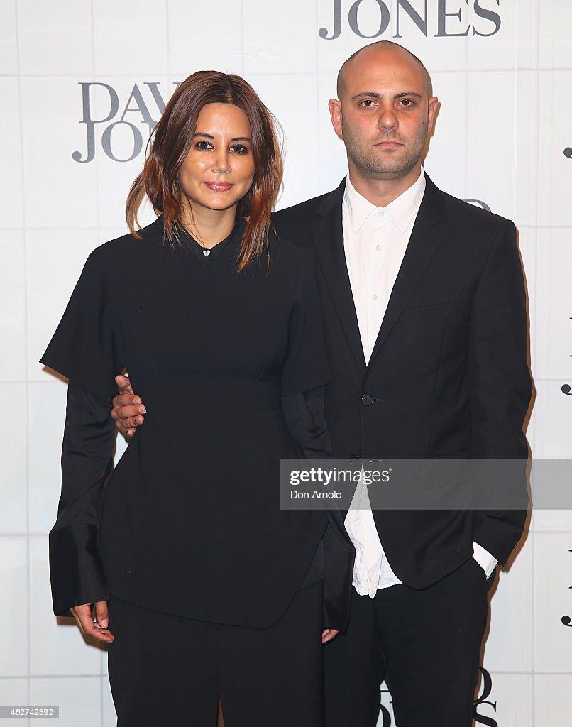 Christine Centenera and Josh Goot arrive at the David Jones Autumn/Winter 2015 Collection Launch at David Jones Elizabeth Street Store on February 4...