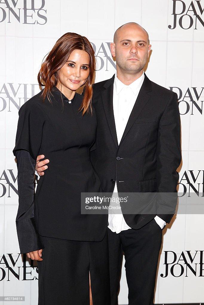 Christine Centenera and Josh Goot arrives at the David Jones Autumn/Winter 2015 Collection Launch at David Jones Elizabeth Street Store on February 4...