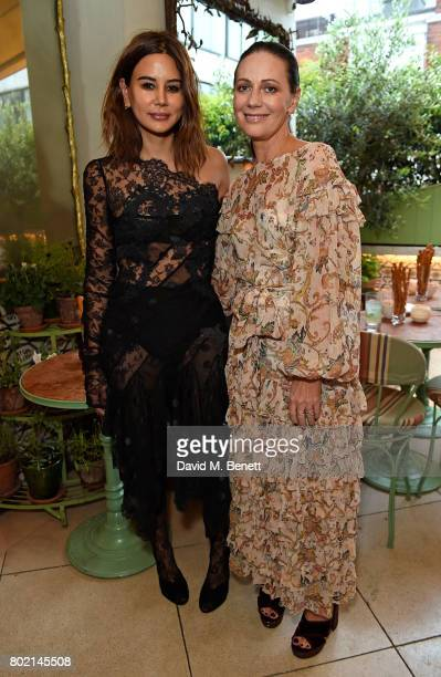Christine Centenera and Nicky Zimmermann attend an intimate dinner hosted by Nicky Zimmermann and Margot Robbie to celebrate the opening of the...
