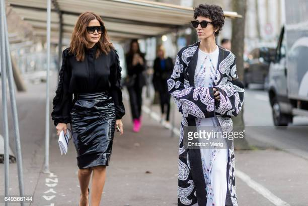 Christine Centenera and Yasmin Sewell outside Ellery on March 7 2017 in Paris France