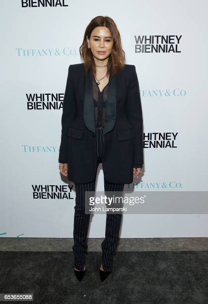 Christine Centenera attends 2017 Whitney Biennial presented by Tiffany Co at The Whitney Museum of American Art on March 15 2017 in New York City