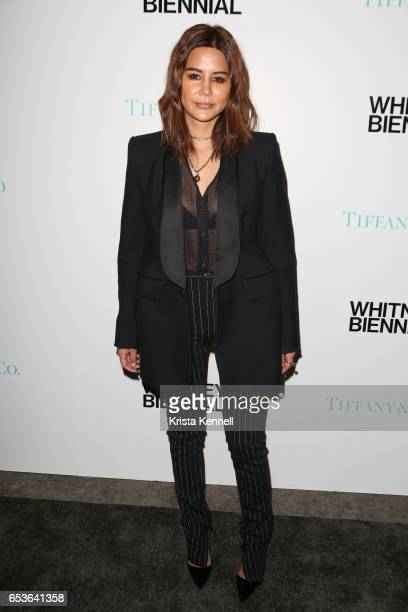 Christine Centenera attends the 2017 Whitney Biennial at The Whitney Museum of American Art on March 15 2017 in New York City