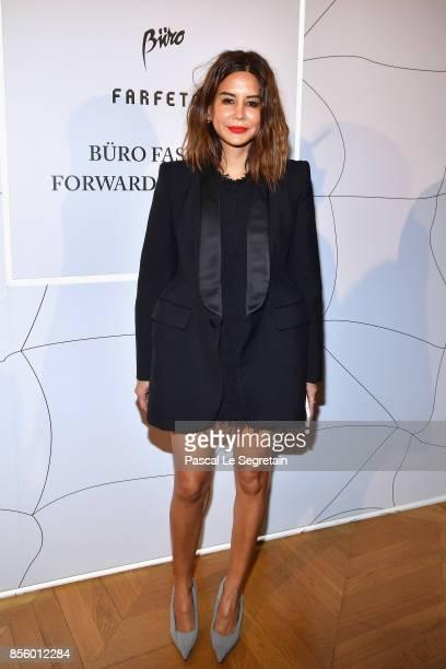 Christine Centenera attends the Buro 24/7 X Farfetch Fashion Forward Initiative as part of the Paris Fashion Week Womenswear Spring/Summer 2018 at...