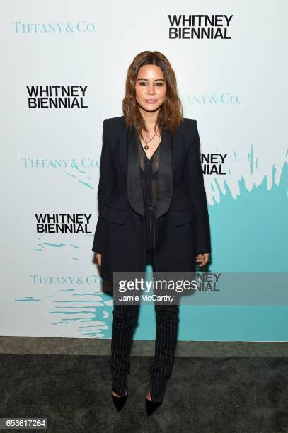 Christine Centenera attends the Tiffany Co presents Whitney Biennial VIP Opening Night at The Whitney Museum of American Art on March 15 2017 in New...