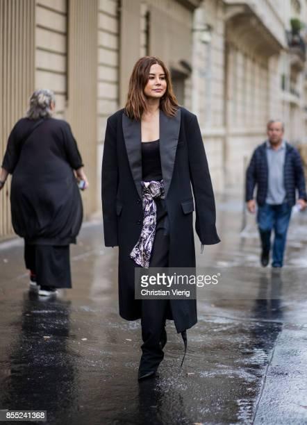 Christine Centenera is seen outside Chloe during Paris Fashion Week Spring/Summer 2018 on September 28 2017 in Paris France