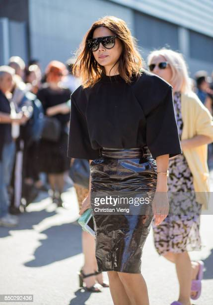 Christine Centenera is seen outside Gucci during Milan Fashion Week Spring/Summer 2018 on September 20 2017 in Milan Italy