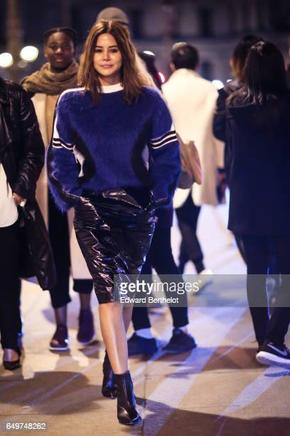 Christine Centenera is seen outside the Louis Vuitton show during Paris Fashion Week Womenswear Fall/Winter 2017/2018 on March 7 2017 in Paris France
