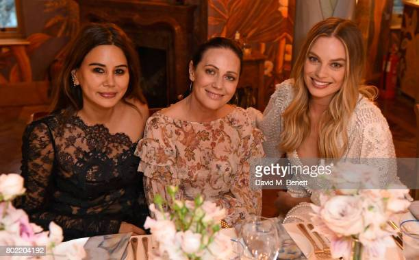 Christine Centenera Nicky Zimmermann and Margot Robbie attend an intimate dinner hosted by Nicky Zimmermann and Margot Robbie to celebrate the...