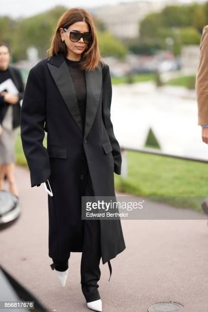 Christine Centenera outside Hermes during Paris Fashion Week Womenswear Spring/Summer 2018 on October 2 2017 in Paris France