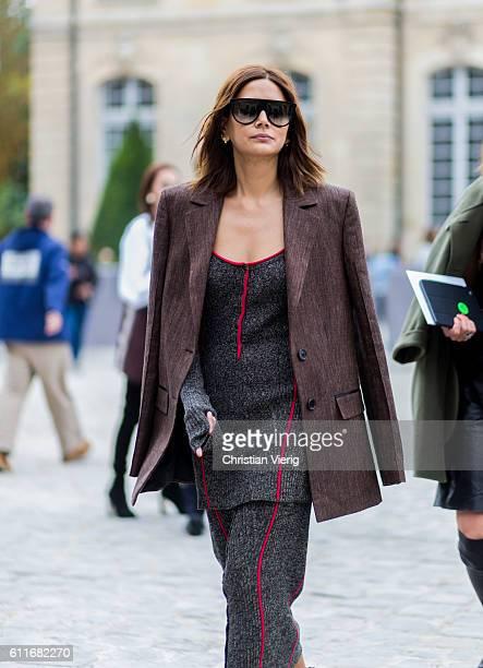 Christine Centenera outside of Dior on September 30 2016 in Paris France