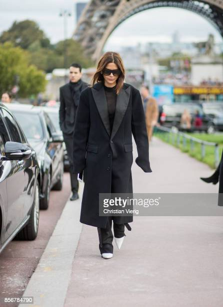 Christine Centenera seen outside Hermes during Paris Fashion Week Spring/Summer 2018 on October 2 2017 in Paris France