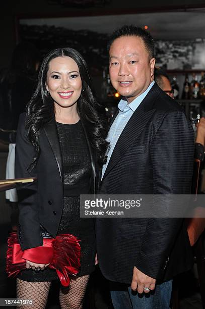 Christine Chiu and Michael Chiu attend The 'Last Supper' Discussion hosted By Stephen Webster At Soho House at Soho House on November 8 2013 in West...
