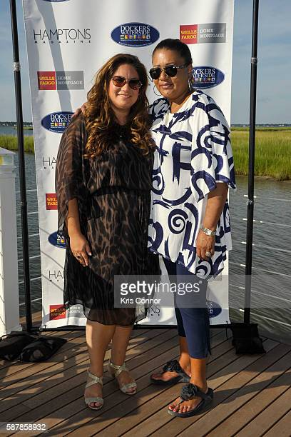 Christine Curiale and Mariko Pichardo attend the 'Hamptons Magazine and Mortgage Professionals Enjoy Sunset Cocktails at Dockers ' event at Dockers...