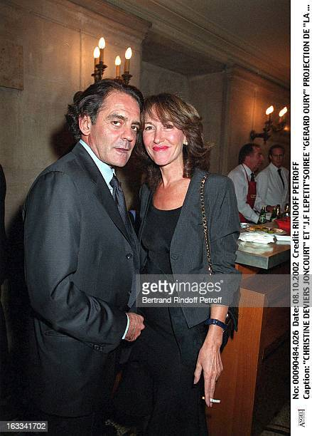 Christine Deviers Joncourt and 'JF Lepetit''Gerard Oury' film screening of 'La Grande Vadrouille' at the Garnier opera
