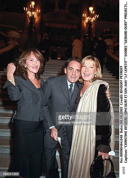 Christine DeviersJoncourt and her friend JF Lepetit'' 'Gerard Oury' film screening of 'La Grande Vadrouille' at the Garnier opera