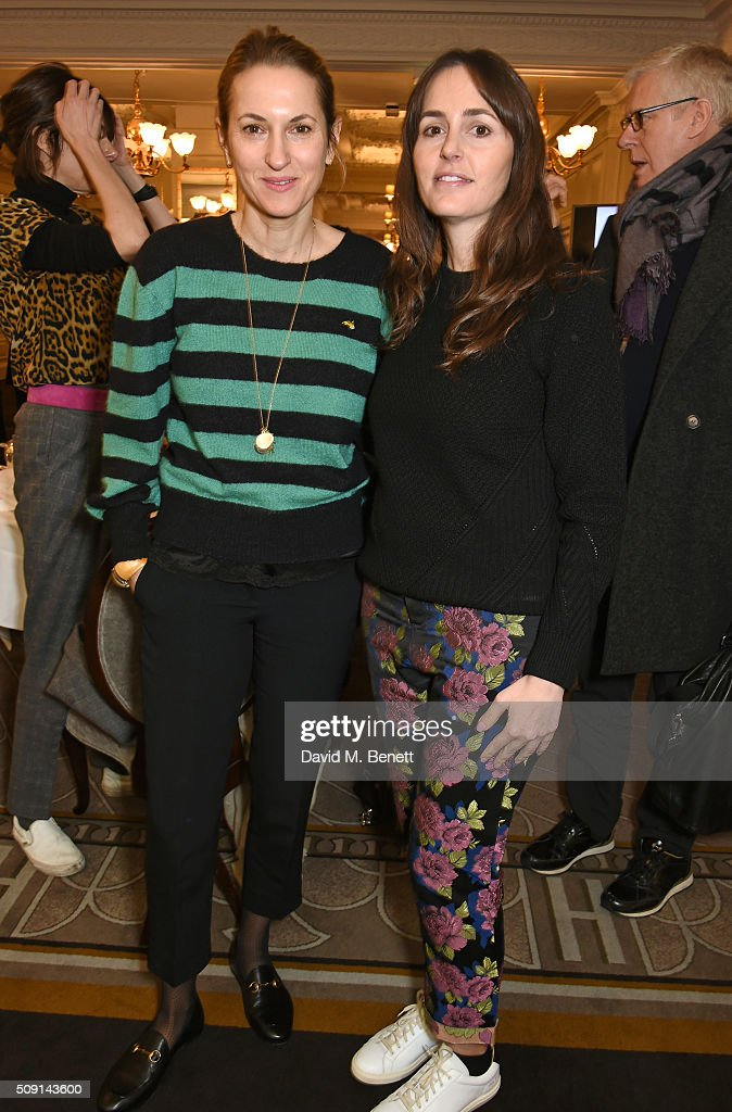 Christine D'ornano (L) and Tania Fares attend the Hoping Breakfast for Palestinian refugee children at Harrods on February 9, 2016 in London, England.