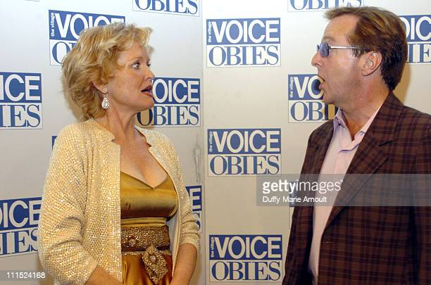 Christine Ebersole and Edward Hibbert during 51st Annual Village Voice OBIE Awards at Jack H SKIRBALL Center for the Performing Arts in New York City...