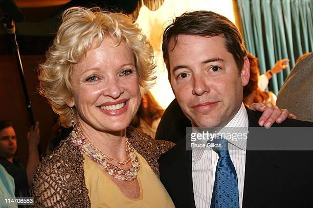Christine Ebersole and Matthew Broderick during 60th Annual Tony Awards Reunion Photo Luncheon June 1 2006 at Sardi's in New York City New York...