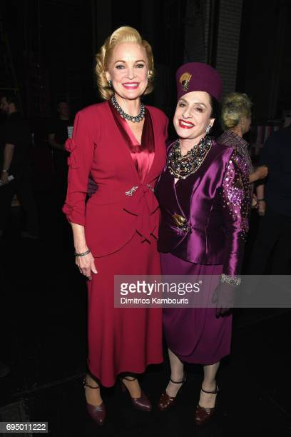 Christine Ebersole and Patti Lupone back stage at the 2017 Tony Awards at Radio City Music Hall on June 11 2017 in New York City