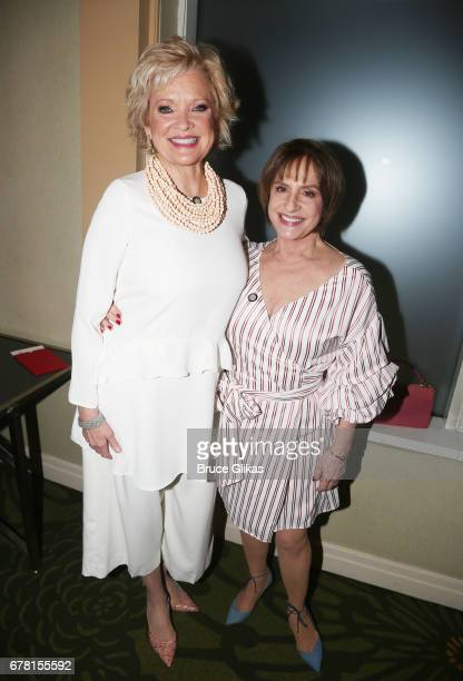 Christine Ebersole and Patti LuPone pose at The 71st Annual Tony Awards Meet the Nominees Press Junket at Sofitel Hotel on May 3 2017 in New York City