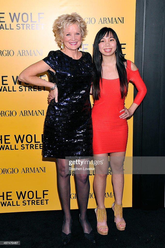 Christine Ebersole (L) attends Giorgio Armani Presents: 'The Wolf Of Wall Street' world premiere at the Ziegfeld Theatre on December 17, 2013 in New York City.