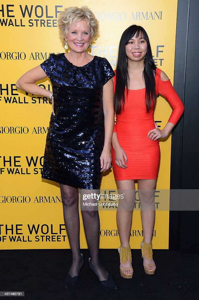 Christine Ebersole (L) attends the 'The Wolf Of Wall Street' premiere at the Ziegfeld Theatre on December 17, 2013 in New York City.