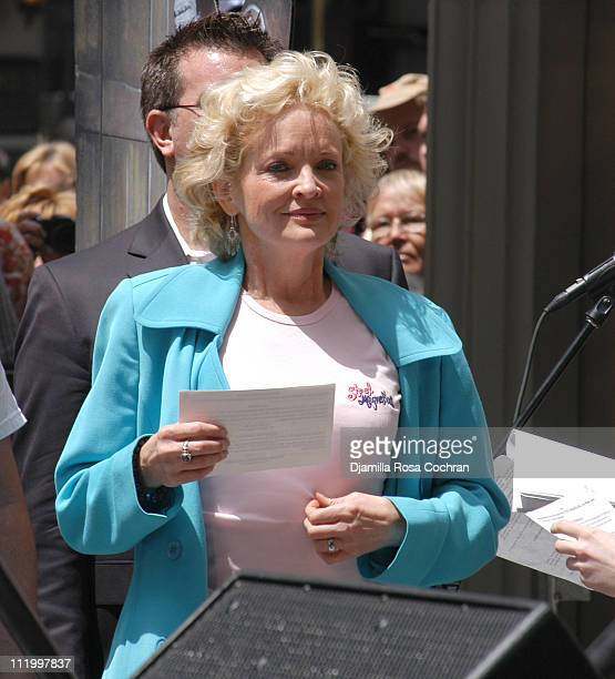 Christine Ebersole during 19th Annual Broadway's Stars in the Alley at Shubert Alley in New York City New York United States