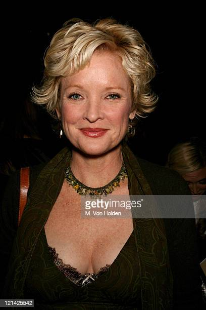 Christine Ebersole during Olympus Fashion Week Spring 2007 Michael Kors Backstage and Front Row at Bryant Park Tent in Manhattan New York United...