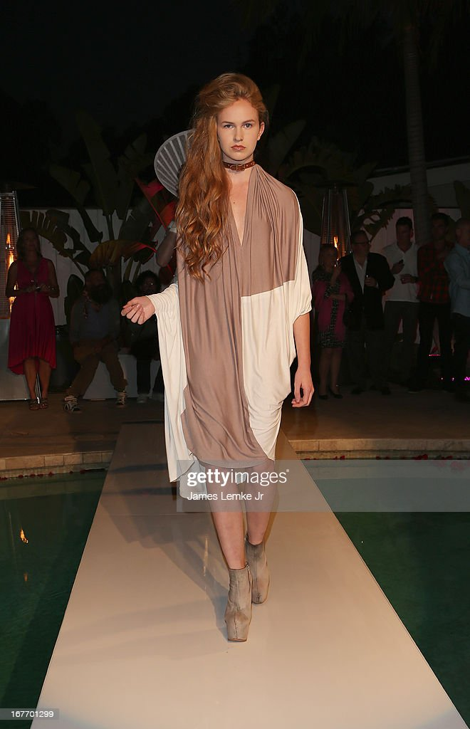 Christine Enns attends the Filmmaker and Genlux Magazine Fashion Editor Amanda Eliasch Hosts BritWeek 2013 Cocktail Party on April 27, 2013 in West Hollywood, California.