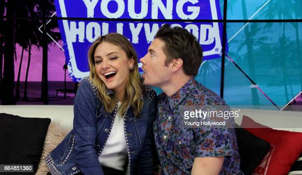 Christine Evangelista and Josh Henderson at the Young Hollywood Studio on April 4 2017 in Los Angeles California