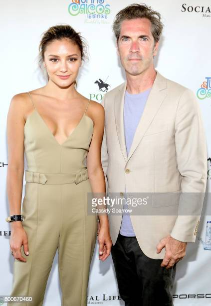 Christine Evangelista and Justin Mitchell attend the 2017 Polo Hamptons at Southampton Polo Club on June 24 2017 in New York City