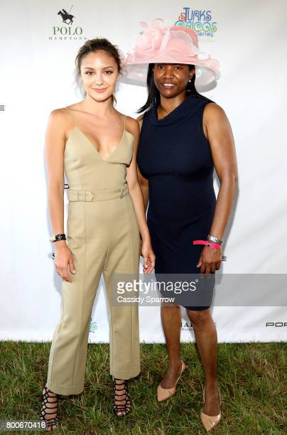 Christine Evangelista and Pamela Ewing attend the 2017 Polo Hamptons at Southampton Polo Club on June 24 2017 in New York City