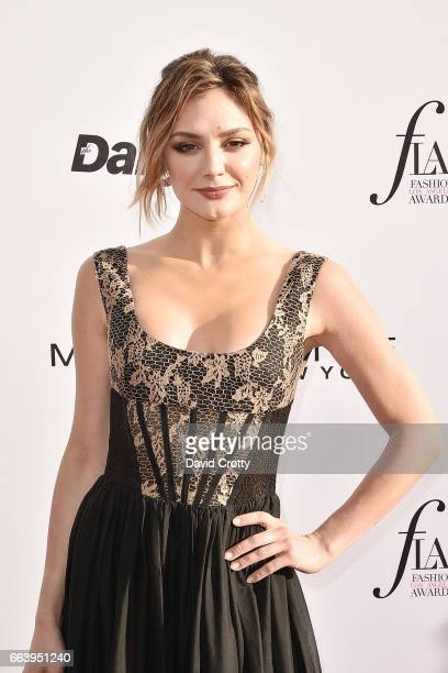 Christine Evangelista attends the Daily Front Row's 3rd Annual Fashion Los Angeles Awards Arrivals at Sunset Tower Hotel on April 2 2017 in West...