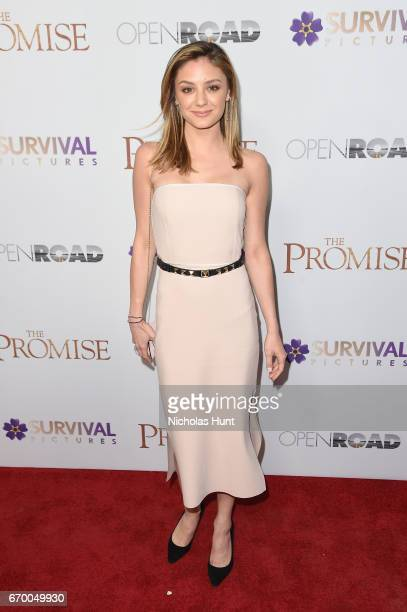 Christine Evangelista attends the New York Screening of 'The Promise' at The Paris Theatre on April 18 2017 in New York City